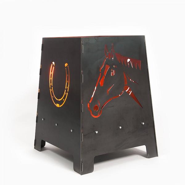 Feuerofen Pferd Metall