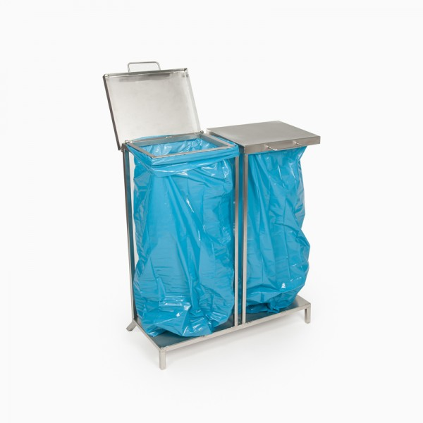 Müllsackständer Edelstahl (doppelt)